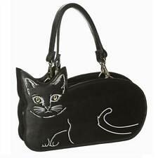 Black Cat Hand/Shoulder Bag Vegan Friendly Banned