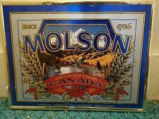 molson framed sign