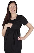 2 in 1 Maternity Pregnancy nursing breastfeeding Top Blouse Shirt short sleeve