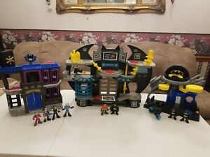 Fisher-Price Imaginexts DC BATCAVE Playset w/ villains and Batmans and robin