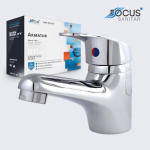 Wasserhahn für Waschbecken Mischbatterie Bad Einhebel Armatur mit Ablaufgarnitur