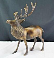 Vintage Animal Bronze Sculpture Figurine Stag Elk Deer Free Standing