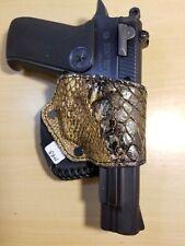 1911 Holster Right Hand OWB  BIEGE ALLIGATOR Skin Gun SLIP HOLSTER SLIDE HOLSTER