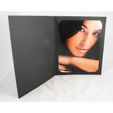 "New Black Cut Corner  Photo Folders Photo Cards Photo Mounts10x8"" (pack of 10)"