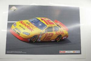 "Nascar #12 Kodak Race Car Track Ryan Newman 13x19"" - Kodak Smart Demo Print F44B"
