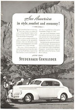 Vtg 1939 Studebaker Commander ad Print magazine advertisement