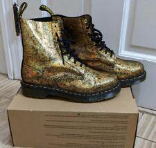 Dr. Martens Women's Crackle Gold 1460 Pascal Boot NEW Size US 10 EU 42