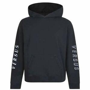 Versus Versace Logo Hoodie Sweat Top Sweatshirt Small rrp £309-