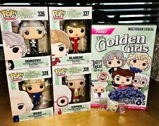 Funko Pop Complete Set of 4 Golden Girls with Cereal Box and Betty White Prize