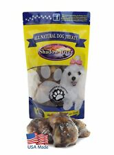 Shadow River Premium USA Beef Large Knee Cap Bone Dog Treats (Pack of 4)