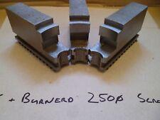 Pratt Burnerd Soft Jaws 250mm Scroll Chuck - Machined but Never Used.
