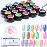 BORN PRETTY 5ml Glitter Nail Stamping Gel UV Gel Polish Clear Jelly Stamper Kits