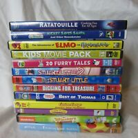 Kids Movies DVD Lot Disney Thomas Hello Kitty Curious George Lot of 13