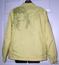 Burton Wms Yellow Jacket w/Face on Back Large *Must C*