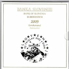 Euro SLOVENIA 2009 Folder Uff 8 Pz Fdc + 3 Euro Bimetal