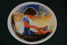 Donald Zolan Ltd Ed Plate: BY MYSELF - Girl w/Book