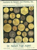 American Numismatic Assocation Convention Sale 1989 Catalog Dr Nelson Aspen