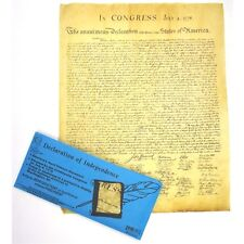 DECLARATION OF INDEPENDENCE PARCHMENT DOCUMENT REPRODUCTION NEW