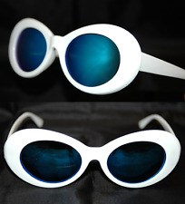 Sonnenbrille Nirvana Kurt Cobain Stil Oval Weiß Verspiegelt Unisex fab313B