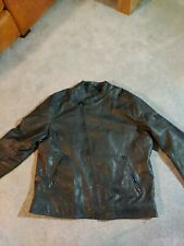 Guess Black leather jacket xl
