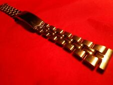 WOMENS 14MM WATCH BAND STRAIGHT ENDS STAINLESS STEEL NICE LOCKING CLASP  NICE!!