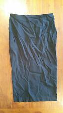asos black long skirt sz12 BNWT free post D61
