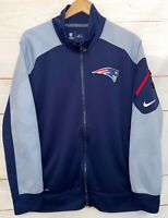 Men's NIKE Dri-Fit NEW ENGLAND PATRIOTS Softshell Jacket Zip Up Coat Blue Large