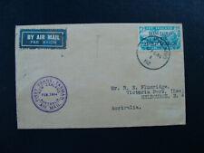 1934 Air Mail Cover First Trans Tasman Flight NZ to Australia