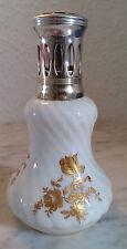 LAMPE BERGER goldene Rosen weißes Porzellan PORCELAINE PILIVUYT G