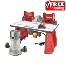 Craftsman 9.5 AMP 1-3/4 HP Router and Table Combo Set Wood Cut Workshop Garage