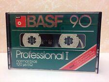 BASF PROFESSIONAL I 90 BLANK AUDIO CASSETTE TAPE NEW RARE 1980 YEAR USA MADE