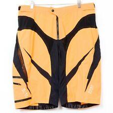 Gore Bike Wear Shorts XXL Cycling Orange Black Sheer Panels Zippers Pockets