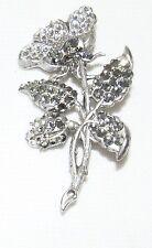 Anne Koplik Designs Crystal Flower Floral Spray Brooch