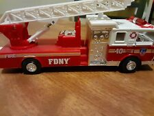 FDNY ladder 40 truck model with lights pull back action and moving ladder