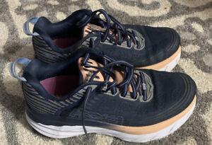 Hoka One One Womens Bondi 6 Mood Indigo/Dusty Pink Running Shoes Size 7.5