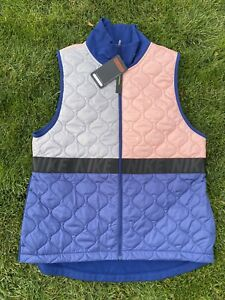 Womens Nike AeroLayer Running Vest Coral  Pink, Blue &Grey BV3869-697 Size Large