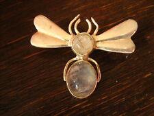 Deliziosa insetti Spilla Ape Farfalla Farfalla 925er argento pietra di luna