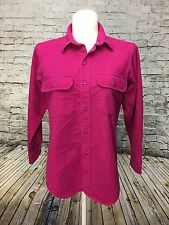 Woolrich Womens Hot Pink Longsleeve Cotton Blouse w Pockets on Chest Size Medium