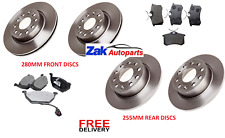 FOR VW GOLF MK6 1.2 1.4 1.6 (2009-2012) FRONT & REAR BRAKE DISCS & PADS SET