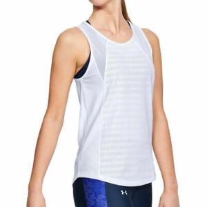 Under Armour UA HeatGear Vanish Q1 Ladies Mesh Tank Top Sports Running Vest M
