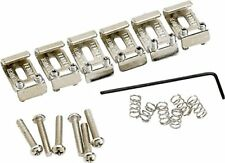 Genuine Fender American US Vintage Stratocaster/Strat Bridge Saddles - NICKEL