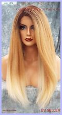 Lace Front Wig LONG STRAIGHT HEAT SAFE COLOR ✯2T27.613✯ SEXY FAST USA SELLER 349