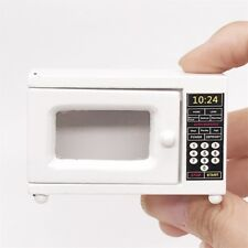 1:12 Mini Dollhouse Furniture Wooden Micro Oven White Doll House Miniature Decor