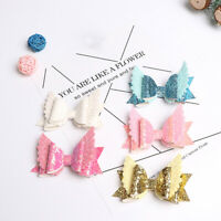 EE_ Glitter Wings Bowknot Kid Baby Girls Hair Clip Decor Party Hairpin Gift Myst