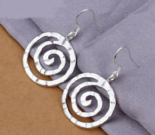 925 Sterling Silver plated Stylish Lady Ear Stud Hoop Earrings Hot Sell