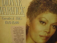DIONNE WARWICK GREATEST HITS 1979-90 ARISTA RECORDS 1989 ANALOG RELEASE CUTOUT