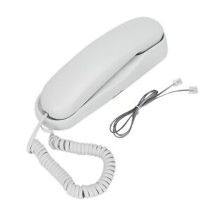 White Wear-resistant Buttons Low Noise Wall-Mount Phone Clear Fixed Telephone