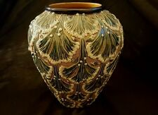 19th Century Gerbing and Stephan Majolica Vase,Coral Design Stunning 22.5 cm