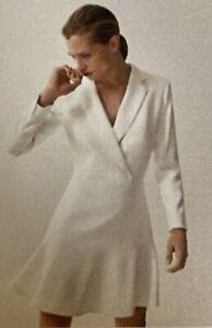 wunderschön feminin: Kleid creme ecru weiss Massimo Dutti 42 NAGELNEU 125€ Etike