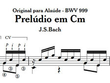 PDF sheet music for classical guitar - Prelude BWV 999 - J. S. Bach